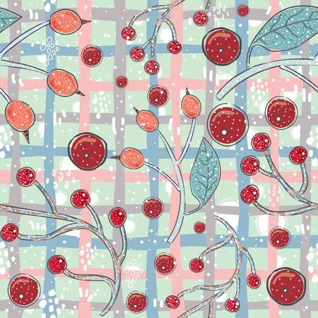 Seamless Winter Pattern. Merry Christmas Texture. Vector Illustration Vecteurs
