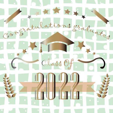 Graduation of Year 2018. Graduation Poster. Vector Illustration