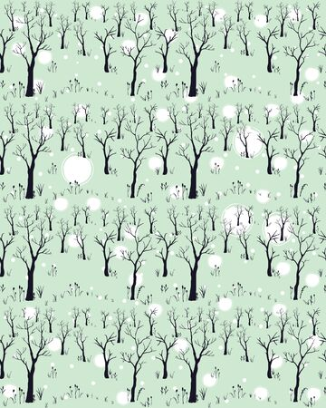 Silhouettes d'arbres sur fond subtil. Motif d'arbre. Illustration vectorielle Vecteurs
