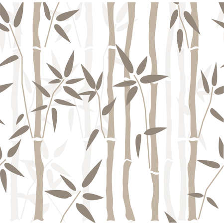 Bamboo seamless pattern on blue background. Vector Illustration