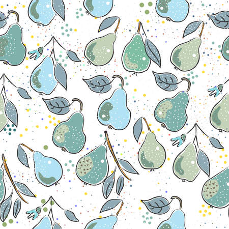 Seamless Pattern with Cute Vegetables. Scandinavian Style. Vector Illustration