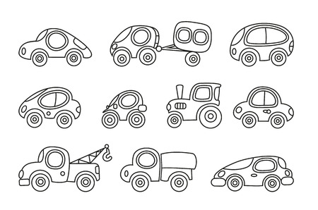 set of small funny vector cars Vector