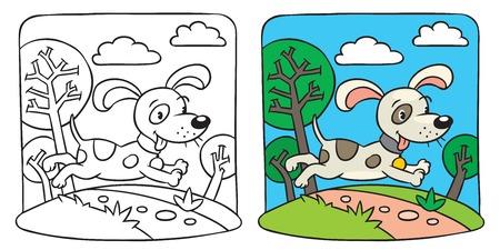 Dog  Coloring book Vector