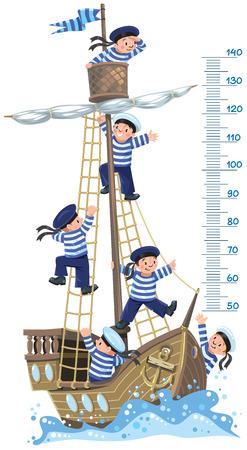 height measure: Ship meter wall.