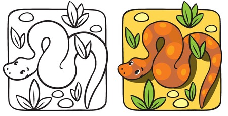 constrictor: Little snake coloring book.