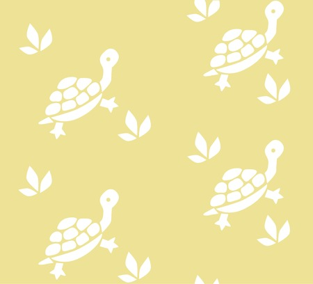inconspicuous: Seamless pattern with funny turtles and plants. Children vector illustration Illustration