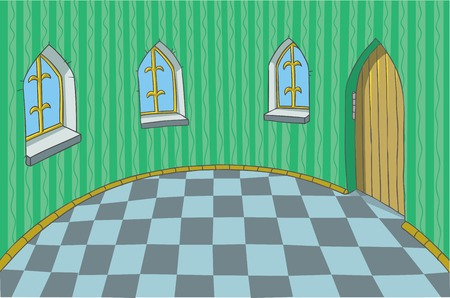 castle interior: Background Illustration of Room in a fabulous Palace.
