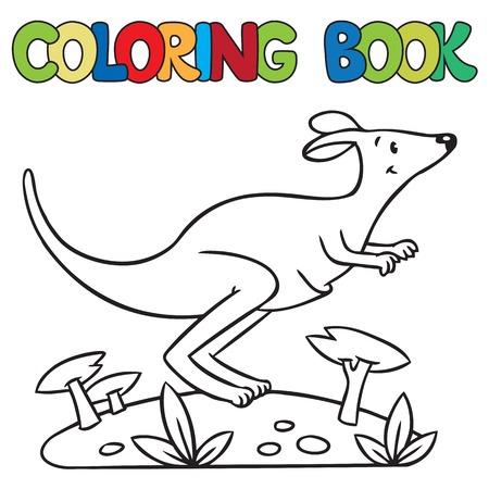 Poco Canguro, Ilustración Para ABC. Alfabeto K Ilustraciones ...