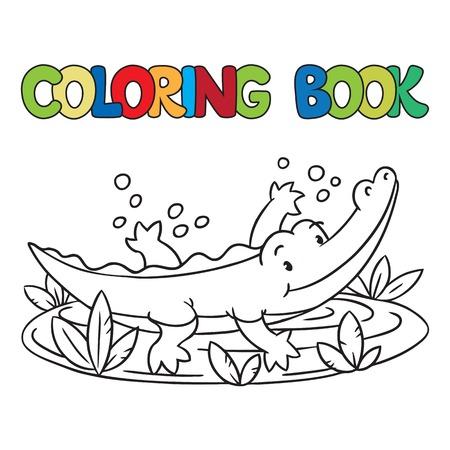 Ilustración Vectorial De Los Niños Pequeños De Cocodrilo O Caimán ...