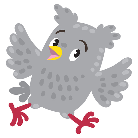 is troubled: Troubled or worried running owl