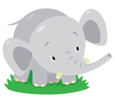 jumbo: Children vector illustration of little funny elephant or jumbo Illustration