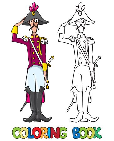 breeches: Coloring book or coloring picture of general or officer