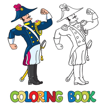 breeches: Coloring book or coloring picture of strong brave general or officer