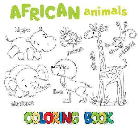 Libro Para Colorear O Dibujo Para Colorear De Loro Lindo Divertido ...