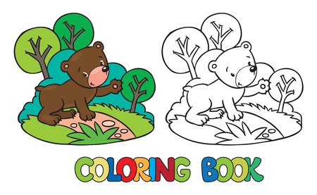 funny picture: Coloring book or coloring picture of funny bear