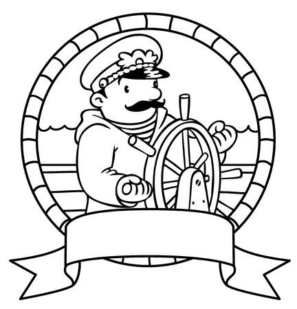 Ilustración Vectorial De Los Niños Capitán Gracioso O Marinero, O ...