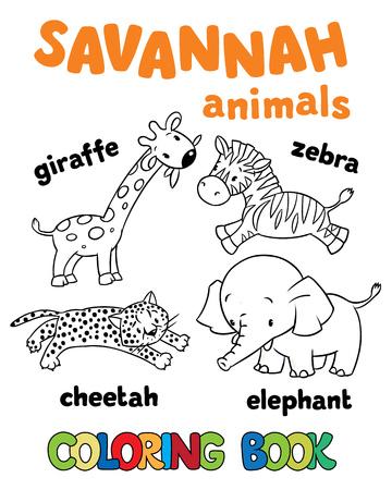 Libro Para Colorear O Dibujo Para Colorear De La Iguana Divertida ...