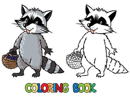 Libro Para Colorear O Dibujo Para Colorear De Tejón Divertido O ...