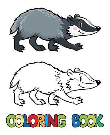 Libro Para Colorear O Dibujo Para Colorear De Mapache Divertido Con ...
