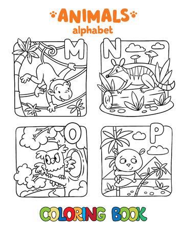 Libro Para Colorear O Dibujo Para Colorear De Mono Divertido, Numbat ...