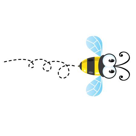Children vector illustration with funny honey bee Illustration
