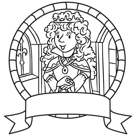 Ilustración Infantil De La Pequeña Princesa En Traje Medieval ...