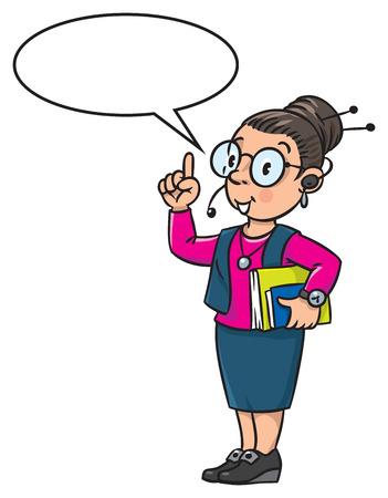 smart girl: Funny translator or interpreter.