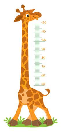 Giraffe meter wall or height chart Stock Illustratie