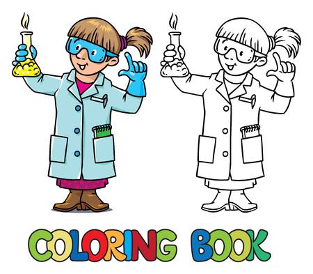 Foto Colorante O Libro De Colorear Del Químico O Científico ...