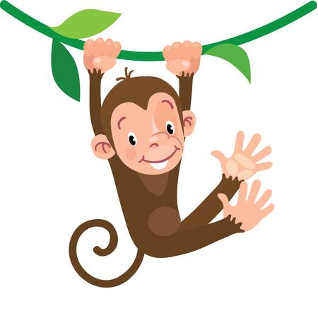 liana: Little funny monkey Illustration