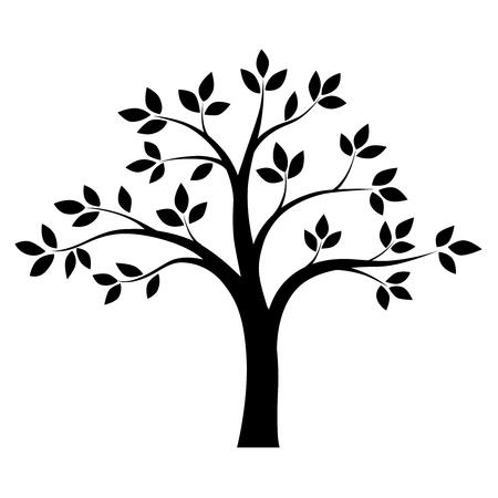 Black and white tree. Vector Zdjęcie Seryjne