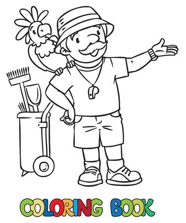 Malbuch Für Kinder, Mädchenwagen Lizenzfrei Nutzbare Vektorgrafiken ...