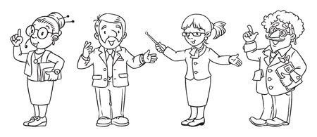 interpreter: Education professions coloring book.
