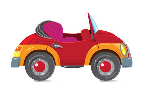 Rétro voiture drôle. Cabriolet