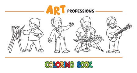 Kunst Berufe Malbuch. Standard-Bild - 83146770