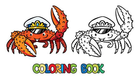 Crab coloring book