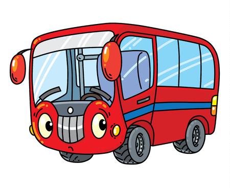 Pequeño autobús divertido con los ojos. Foto de archivo - 84984684