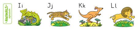 gepard: Animals alphabet or ABC. Illustration