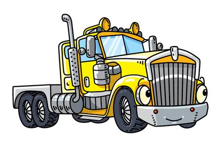 눈을 가진 재미 있은 무거운 트럭