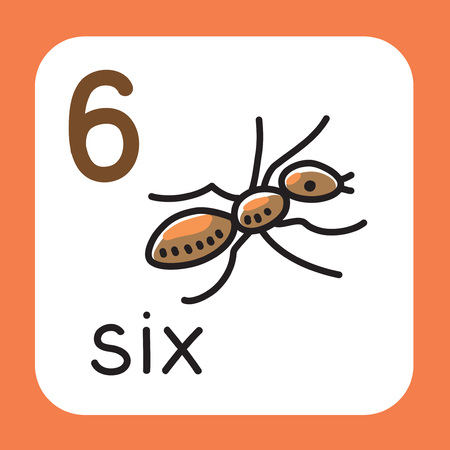 Card for learning to count from 1 to 10.