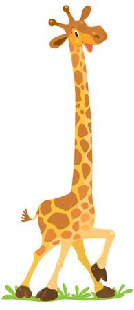 Grappige lachende Giraffe
