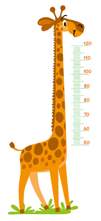 Giraffe meter wall or height chart.