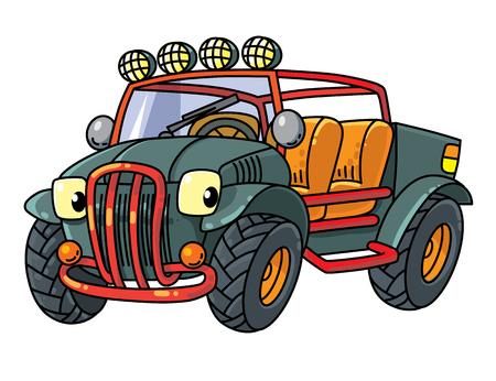 Funny buggy car illustration Illustration