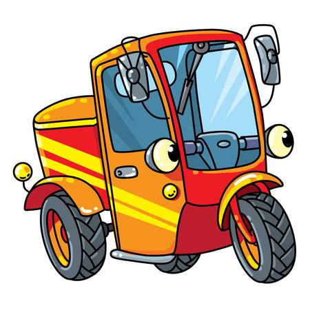Funny small scooter or car with eyes Ilustração
