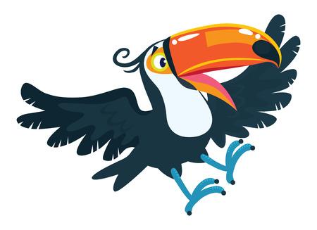 Toucan. Children vector illustration of funny bird Illustration