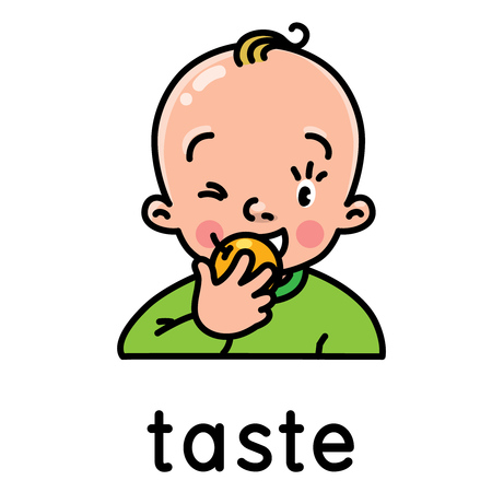 Taste. Icon of one of five senses
