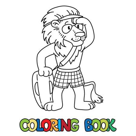 Lion lifeguard ABC coloring book Alphabet L