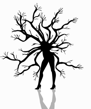illustration of a woman tree Stock Vector - 17964257