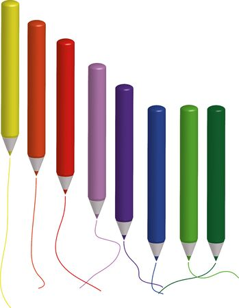 illustration of colored markers Stock Vector - 17964263