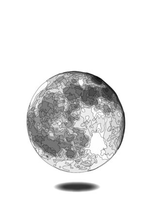 globe style moon shadow Illustration